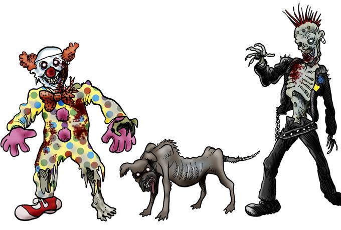 Free zombie clipart vectors download free vector art image.