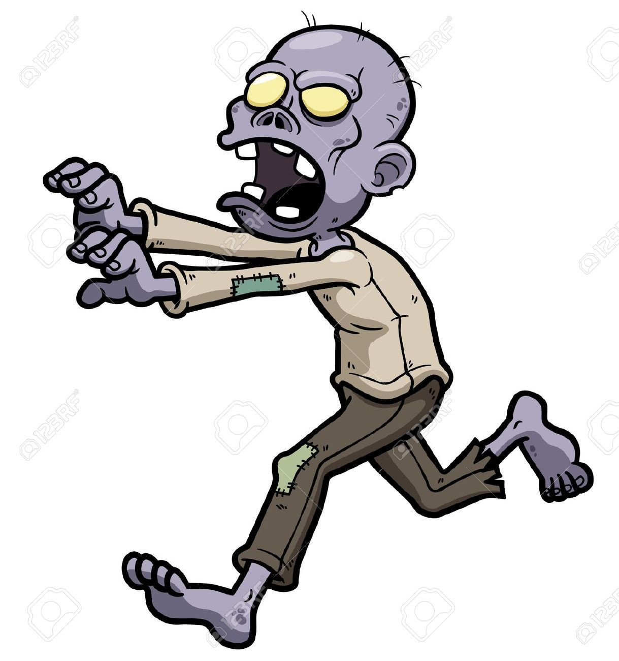 Zombie Cartoon Cliparts, Stock Vector And Royalty Free.