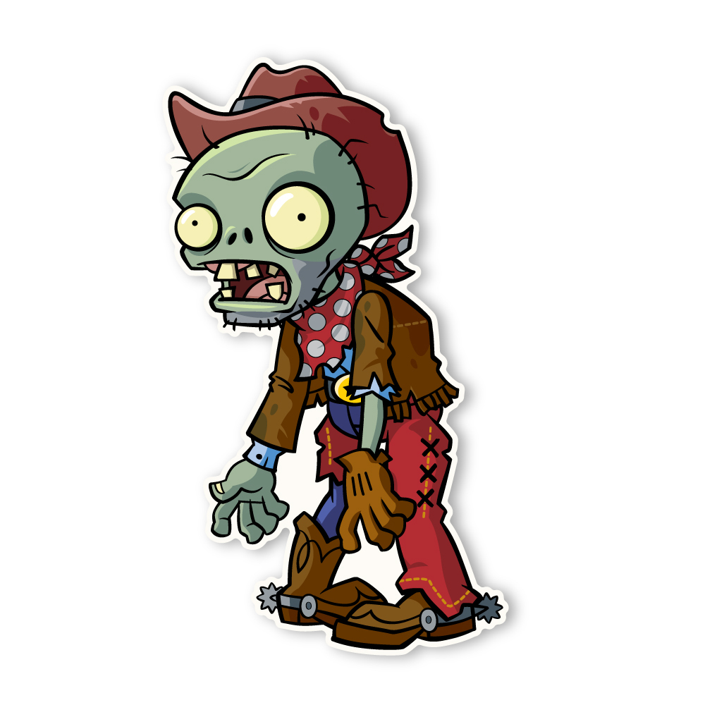Plants vs. Zombies 2: Cowboy Zombie.