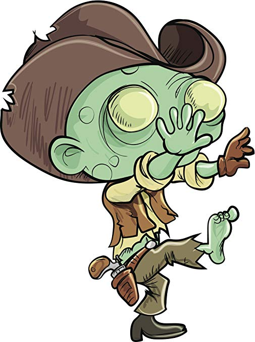 Amazon.com: Scary Ugly Halloween Undead Cowboy Zombie.