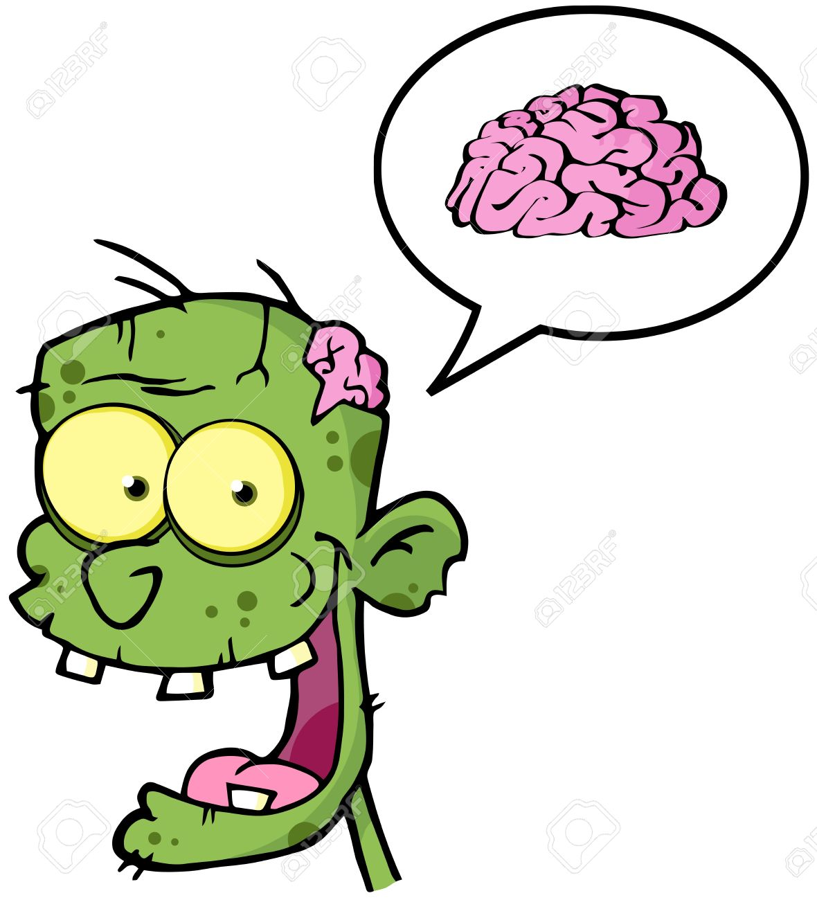 Zombie Brain Clipart.