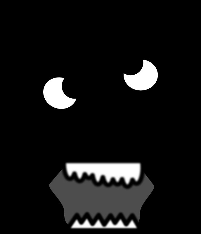 Free Clipart: Cartoon Zombie Face.