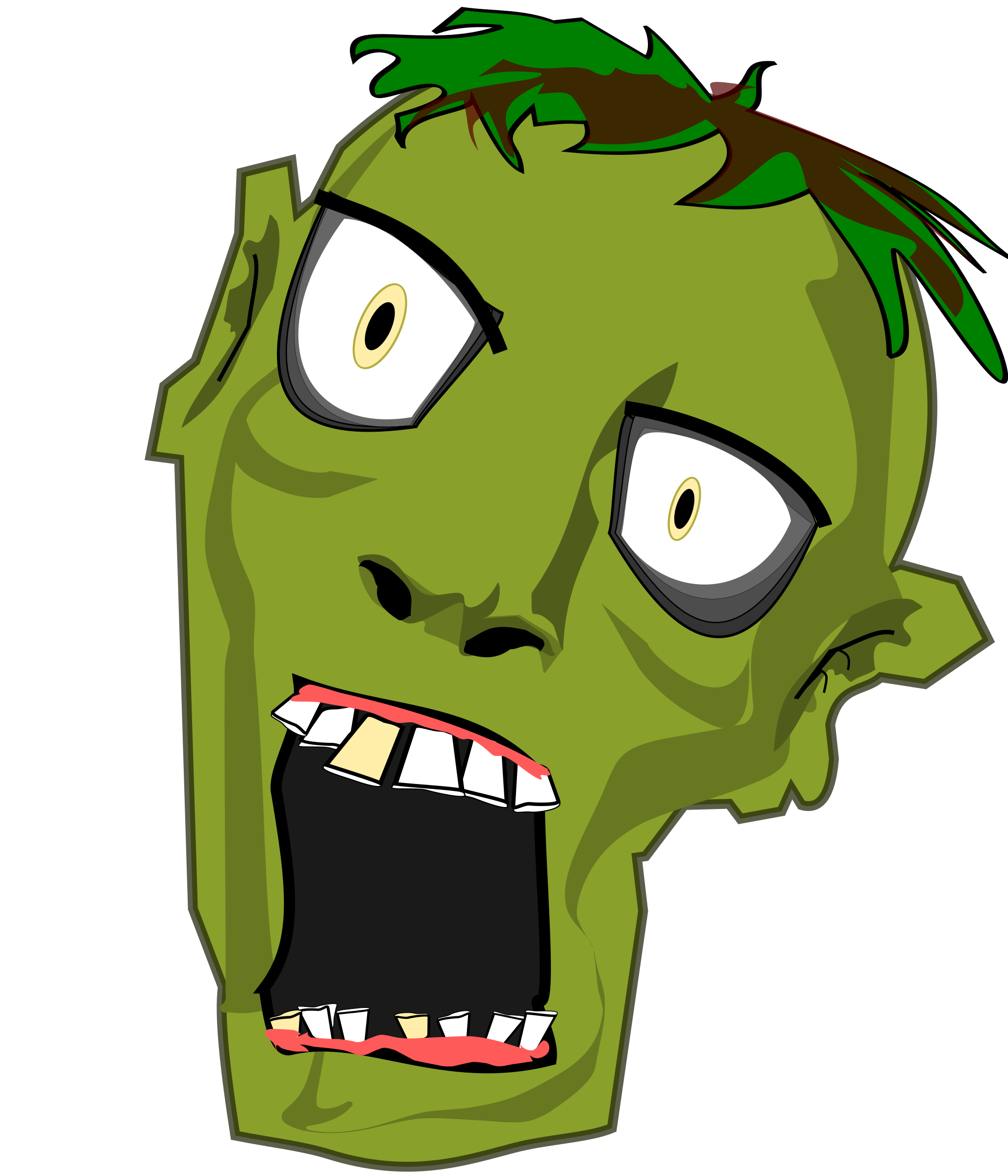 Mouth clipart zombie, Mouth zombie Transparent FREE for.