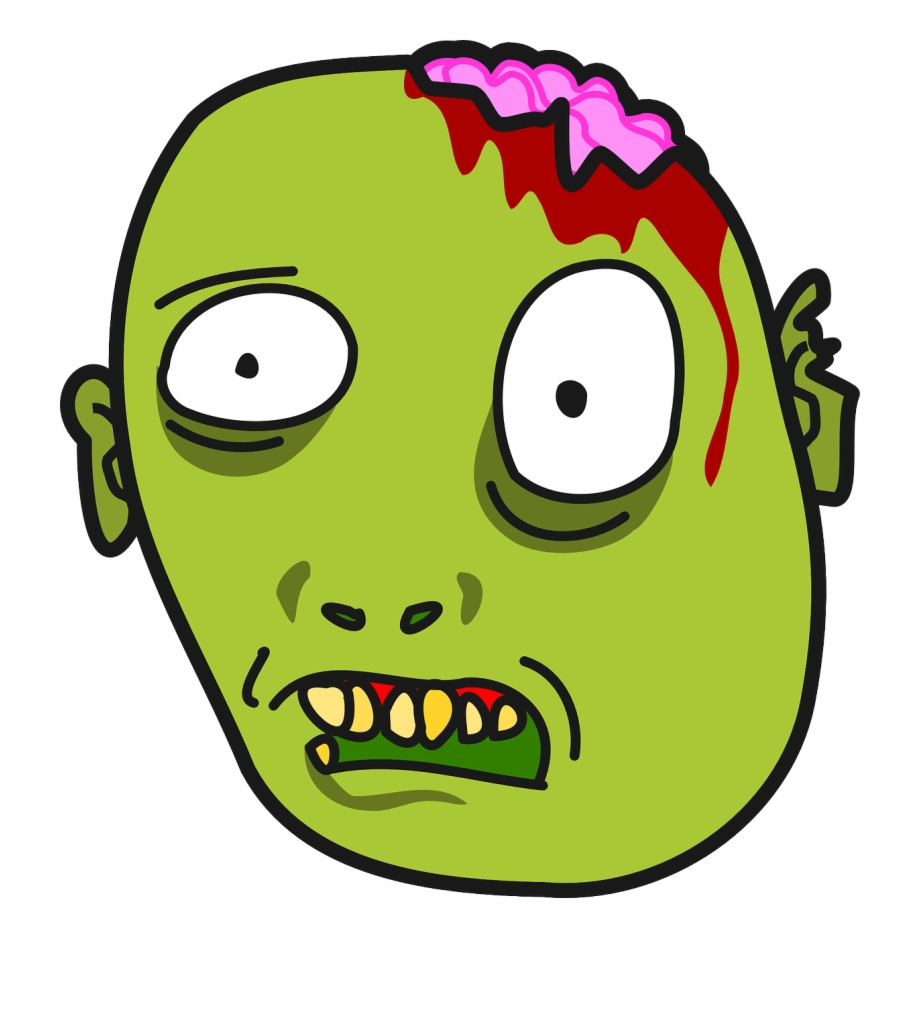 Cartoon Zombie Face Png.
