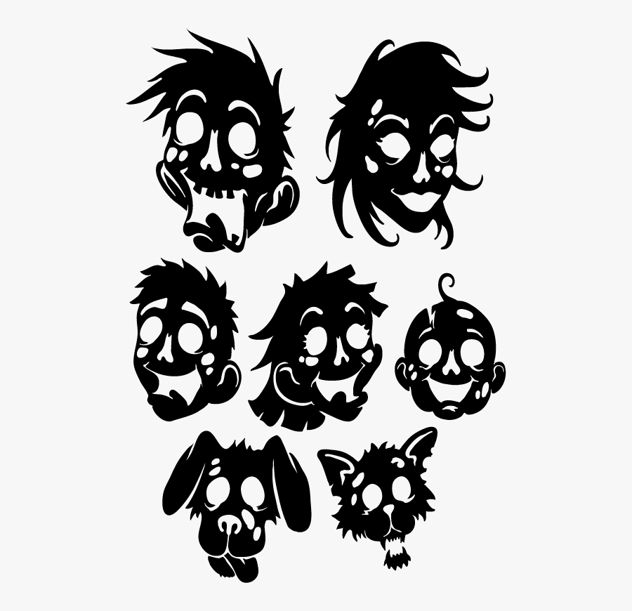 Zombie Family Decal Set.