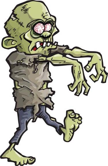 3523 Zombie free clipart.