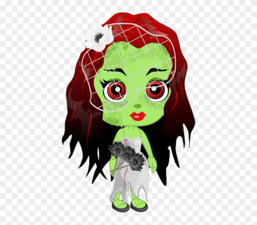 Free Png Zombie Girl Png Images Transparent Clipart.