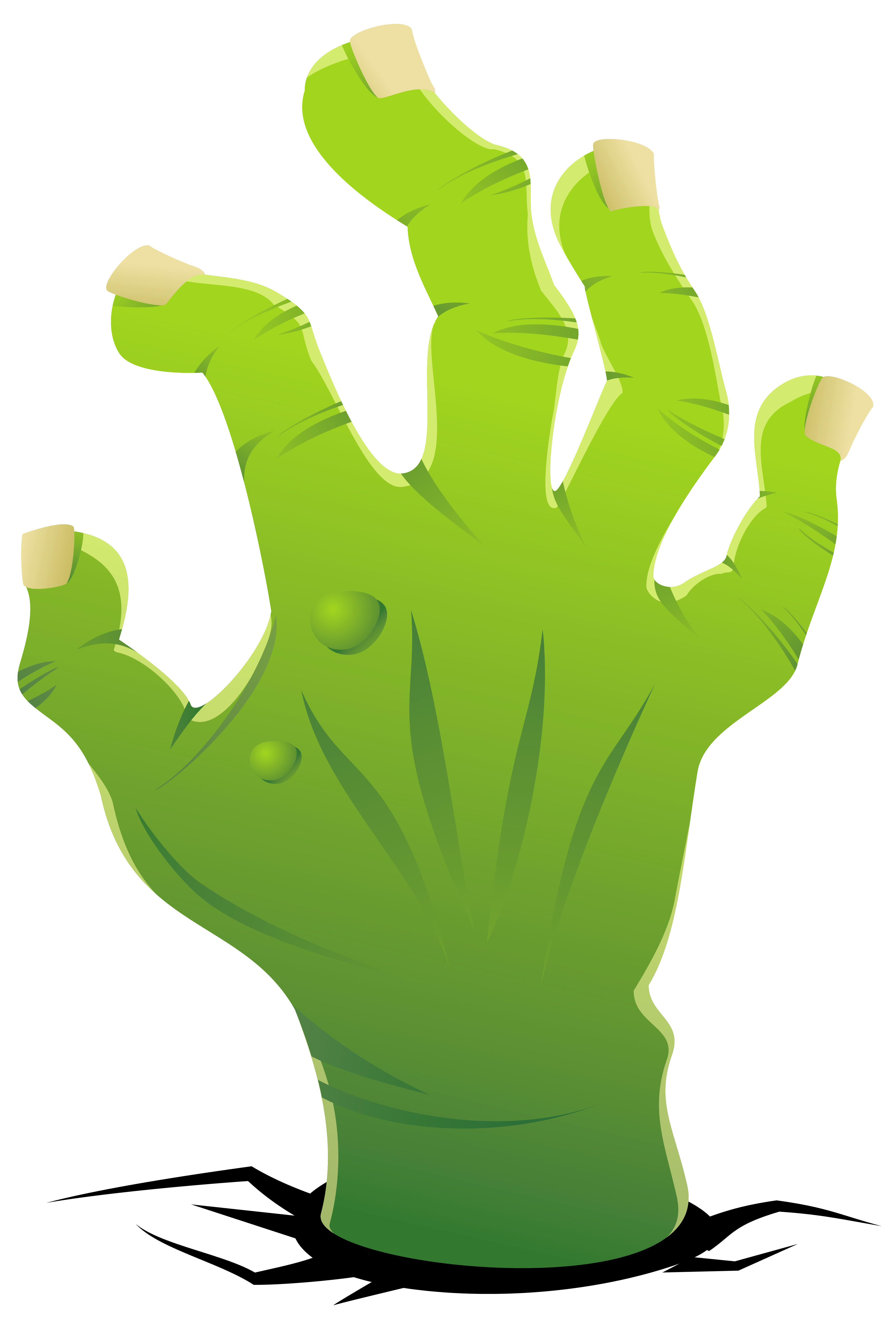 Zombie hand clipart image.