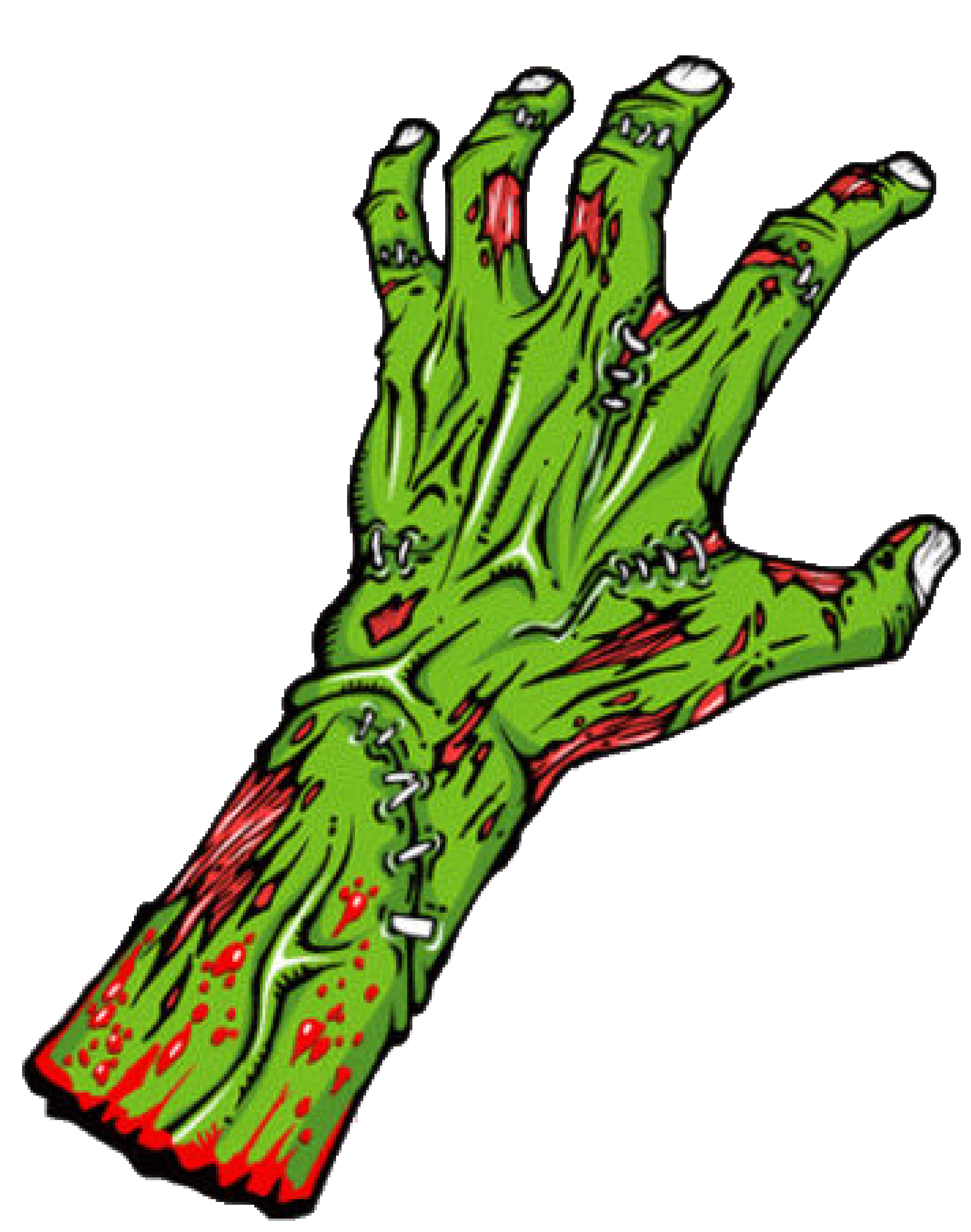 Zombie hand clipart 2 » Clipart Station.