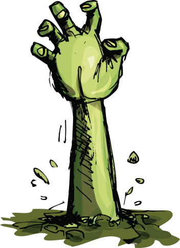 Zombie hand clipart.