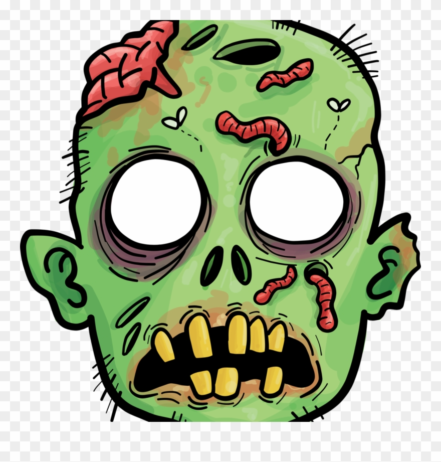Zombie Head Clip Art.