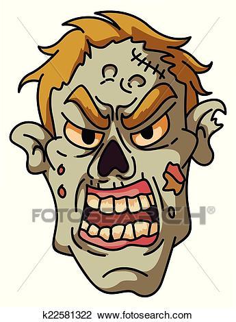 Zombie Head Clipart.
