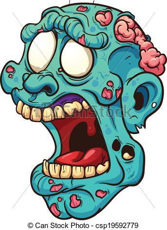 Zombie head clipart 2 » Clipart Portal.