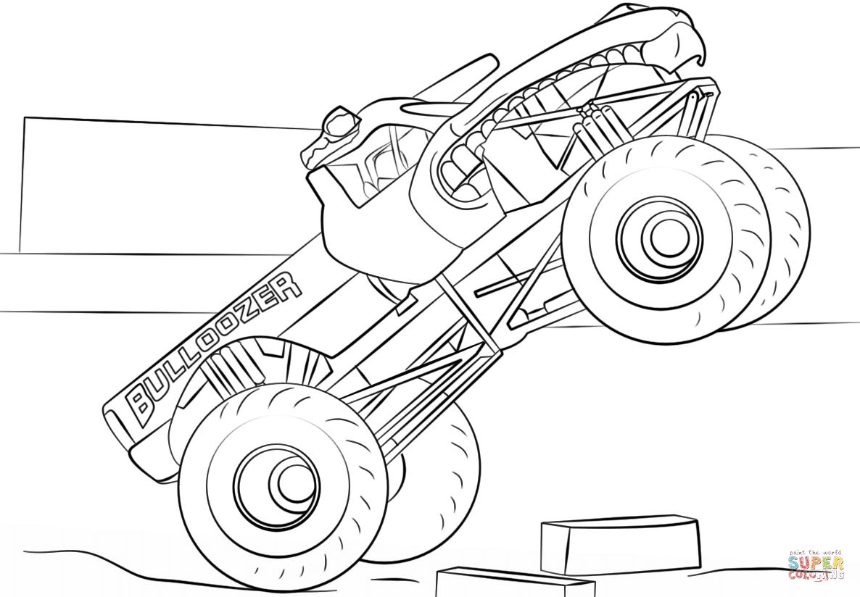 1362 Monster Truck free clipart.