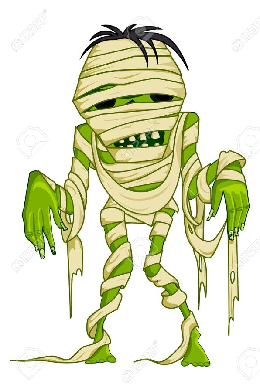 Scary Mummy Royalty Free Cliparts, Vectors, And Stock Illustration.