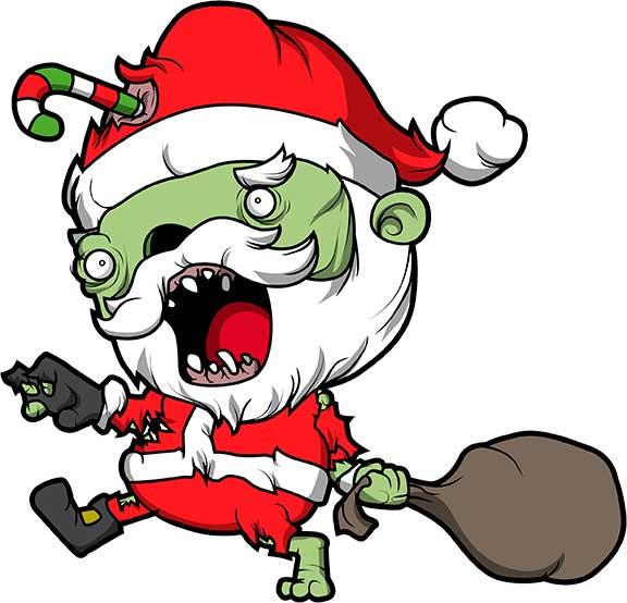 Zombie Clipart zombie santa 9.