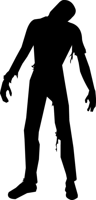 Zombie silhouette for the brick wall.