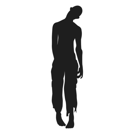 Undead zombie silhouette.