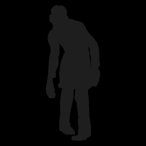 Male zombie silhouette.