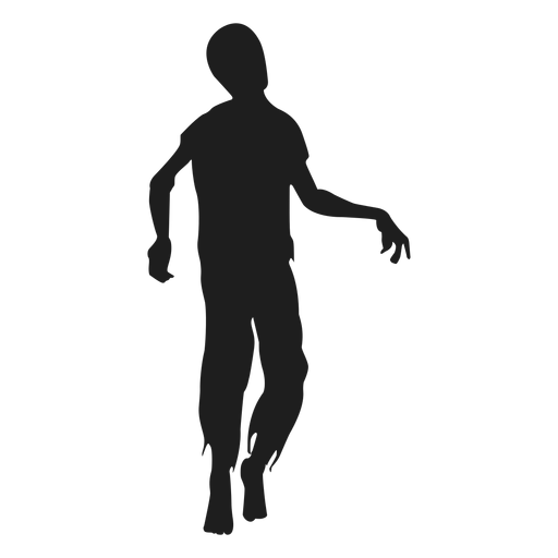 Zombie walking silhouette.
