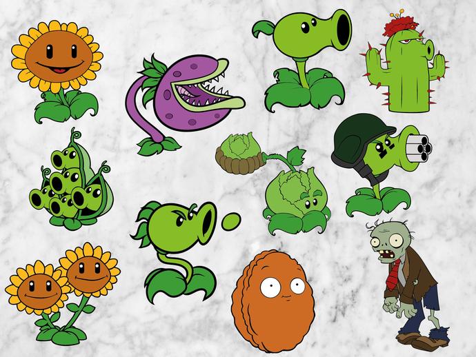Plants vs Zombies svg files, Plants vs zombies.
