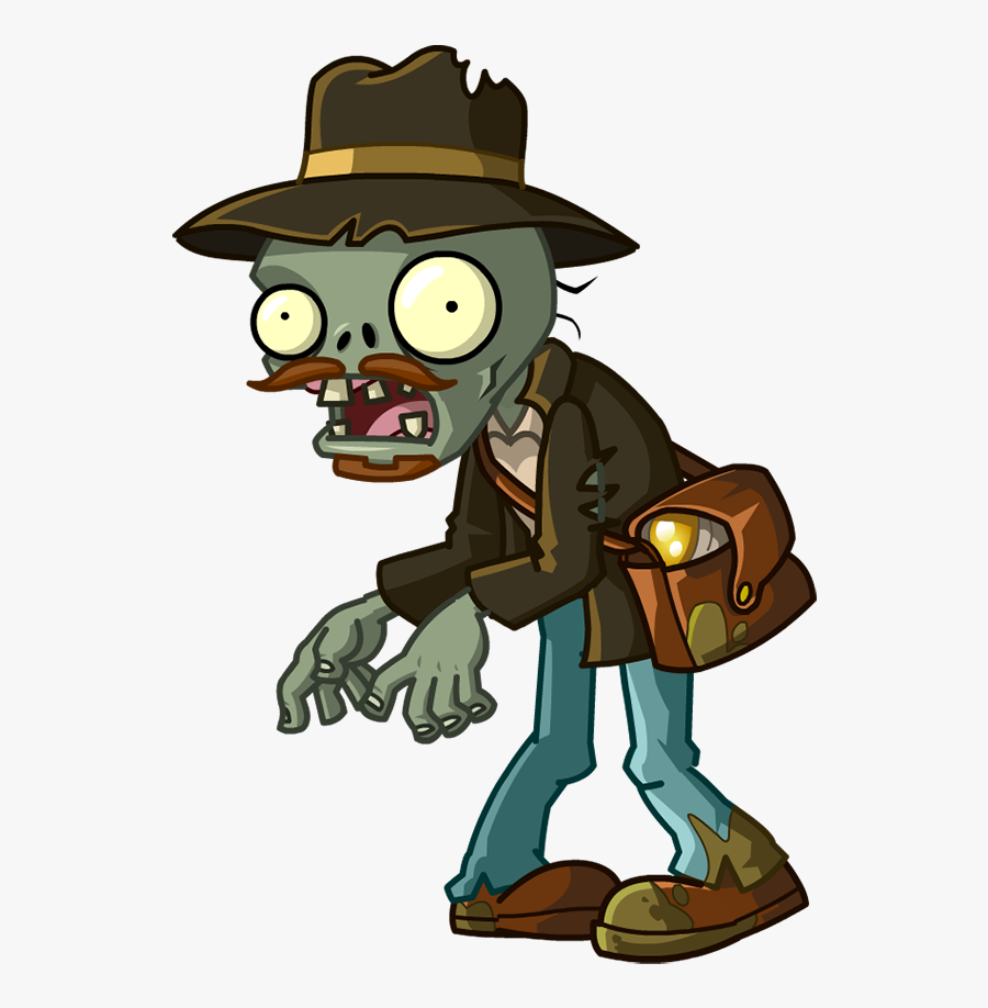 Plants Vs Zombies 2 Relic Hunter Zombie Clipart , Png.