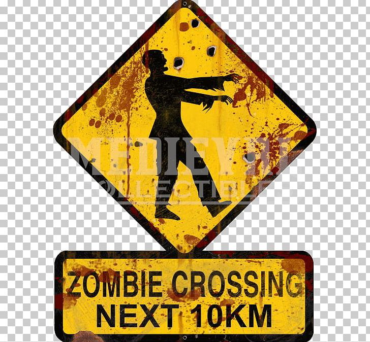 The Zombie Survival Guide Warning Sign Zombie Apocalypse PNG.
