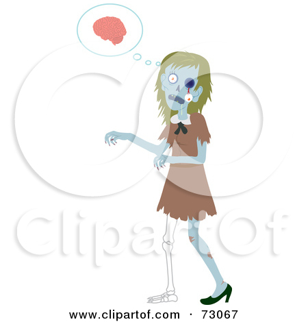 Zombie Woman Clipart.