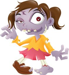 Clipart Woman Zombie.