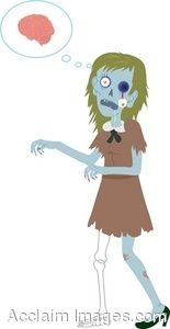 Clip Art Of A Female Zombie.