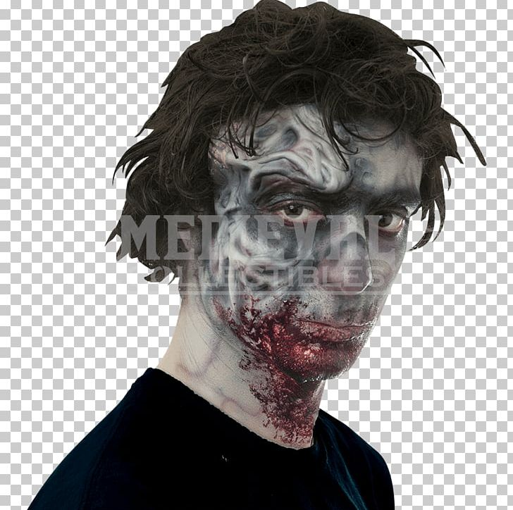 Jaw Zombie Prosthesis Spirit Halloween Face PNG, Clipart.