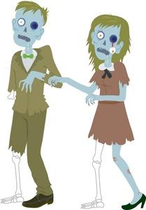 Zombies clip art.