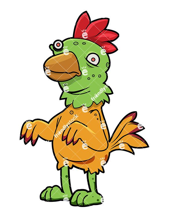 Funny Zombie Chicken.