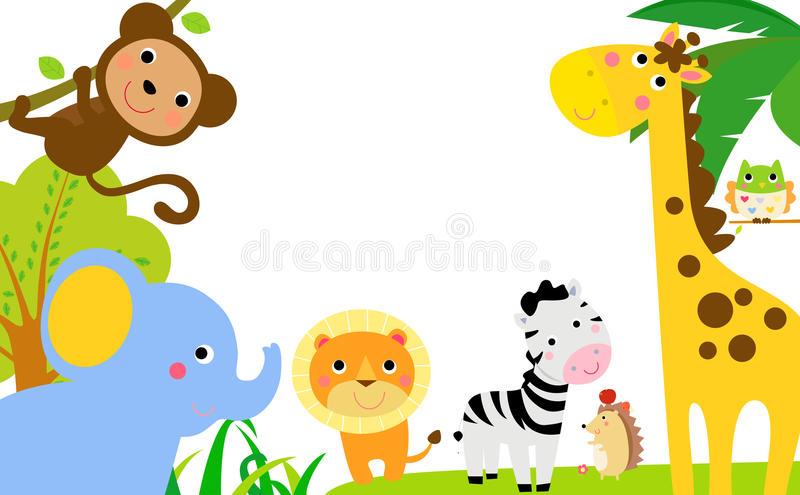 Jungle Border Stock Illustrations.