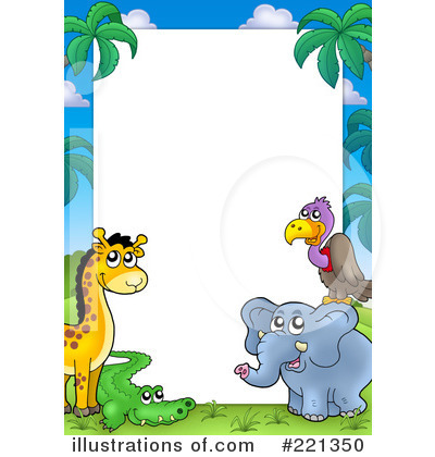 Animals Clipart 221350 Illustration By Visekart Practical Zoo Animal.