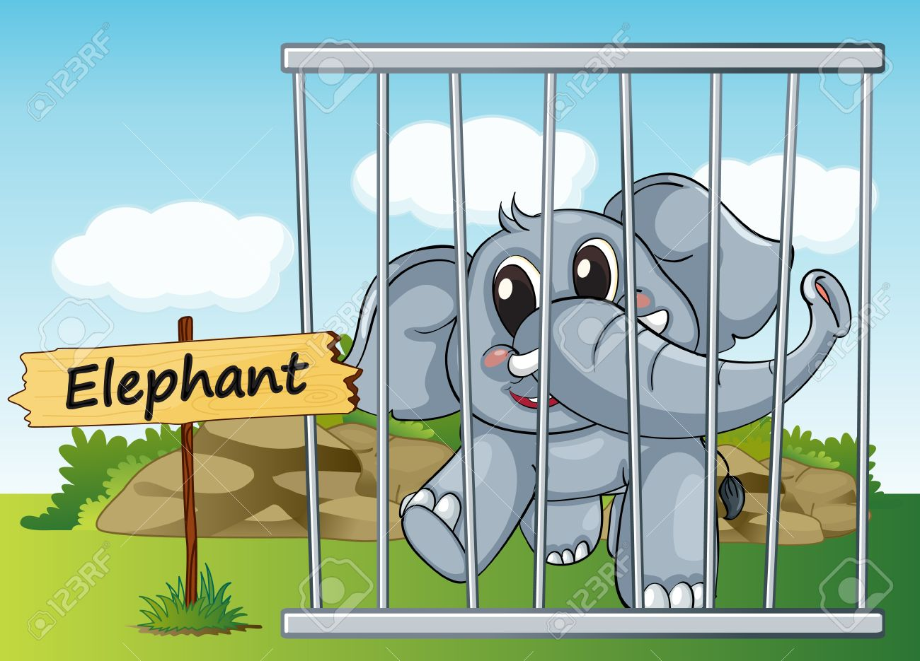 5745 Zoo free clipart.
