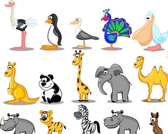 Clipart Zoo Animals.