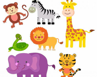 Zoo animal clipart images.