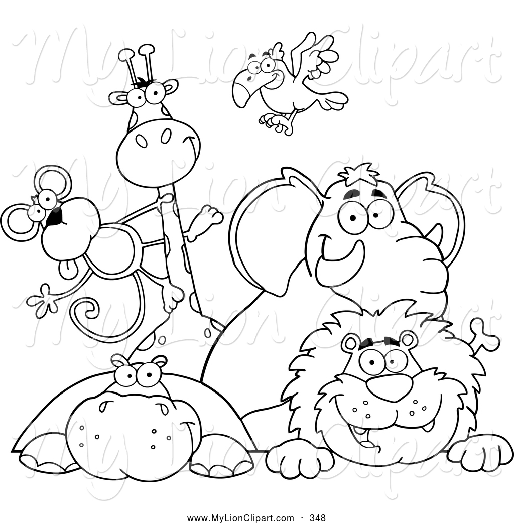 Zoo animals clipart black and white 3 » Clipart Station.