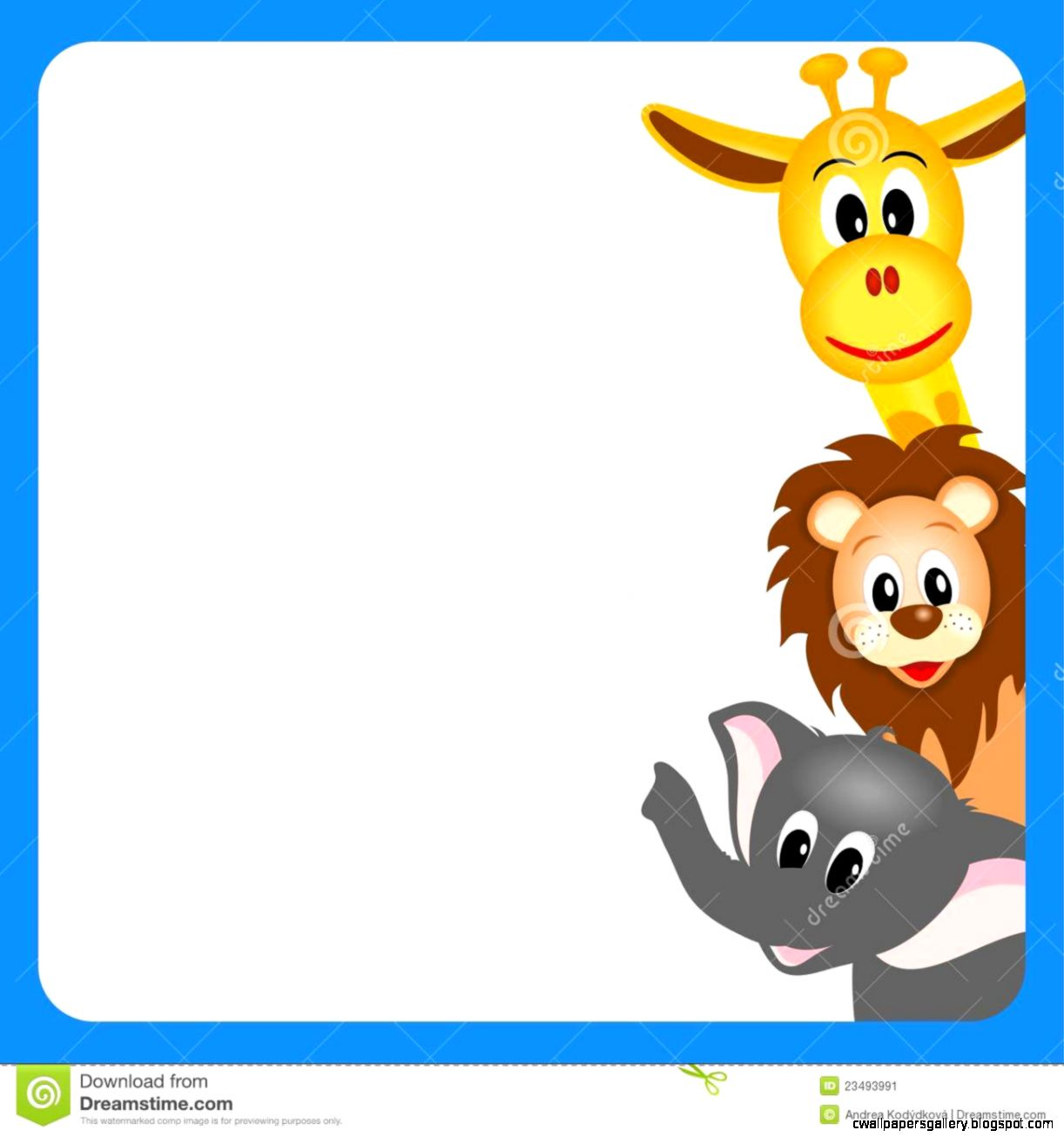 1218 Zoo Animals free clipart.
