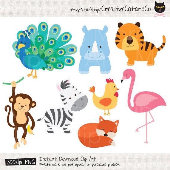 Animal Cartoon Clipart Baby Cute Animal Clipart Clip Art.