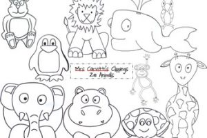 Zoo animals clipart black and white 7 » Clipart Station.