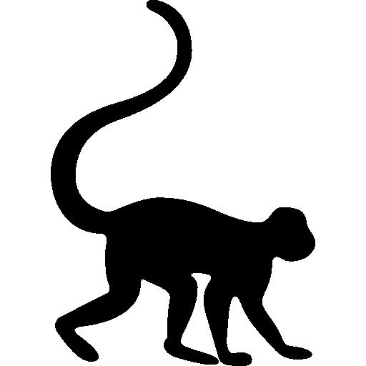 Zoo Animal Silhouette Clip Art.