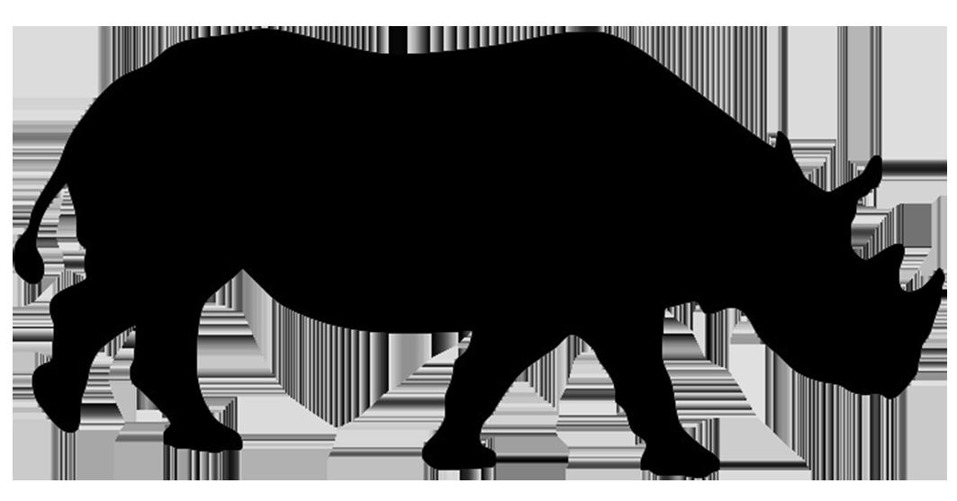 rhinoceros silhouette.