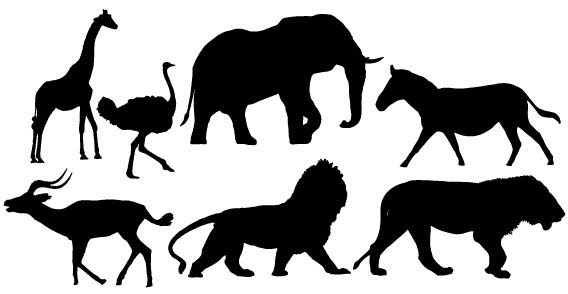 Free Zoo Animals Silhouette, Download Free Clip Art, Free.