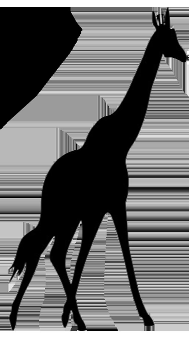 giraffe silhouette.