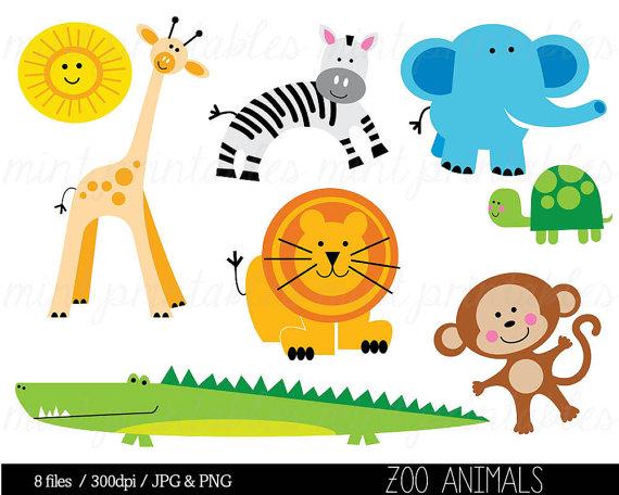 Animal clipart, Baby animal clipart, Animal Clip art, Zoo.