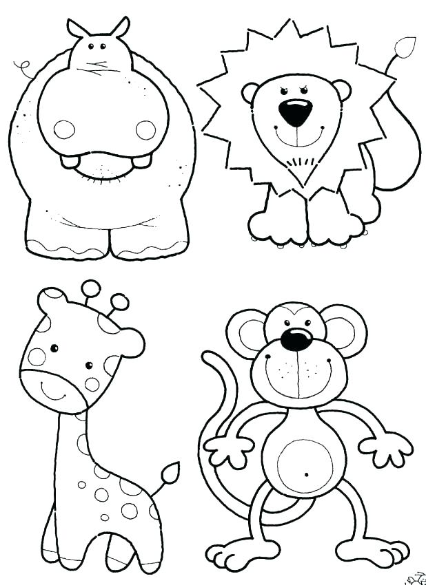 Zoo Animal Coloring Pages Pdf.