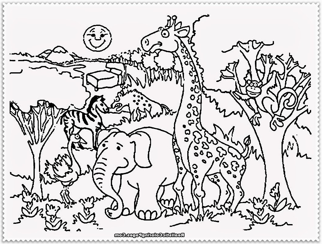Zoo Animals Coloring Pages Pdf.