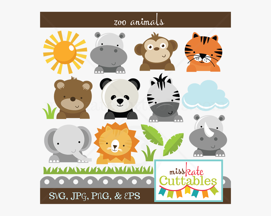 Zoo Animals Svg Cut Files For Scrapbooking Zoo Svg.